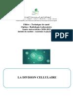 biologie cellulaire  III