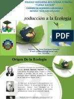 INTRUDUCCION A LA ECOLOGIA