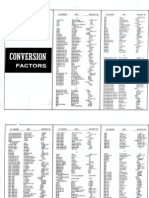 table conversion factors book