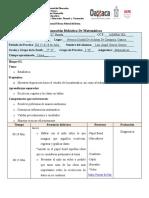Planeación Didáctica Matematicas