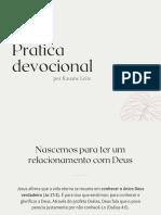 Pratica devocional - Kauane Leite