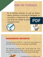 Jornada de trabajo en el Perú - Horario de trabajo - Derecho Laboral - DS 003 -97 - TR