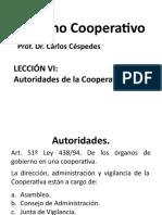 Derecho Cooperativo Lección 6