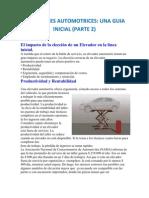 Parte 2 - ELEVADORES AUTOMOTRICES, UNA GUIA INICIAL