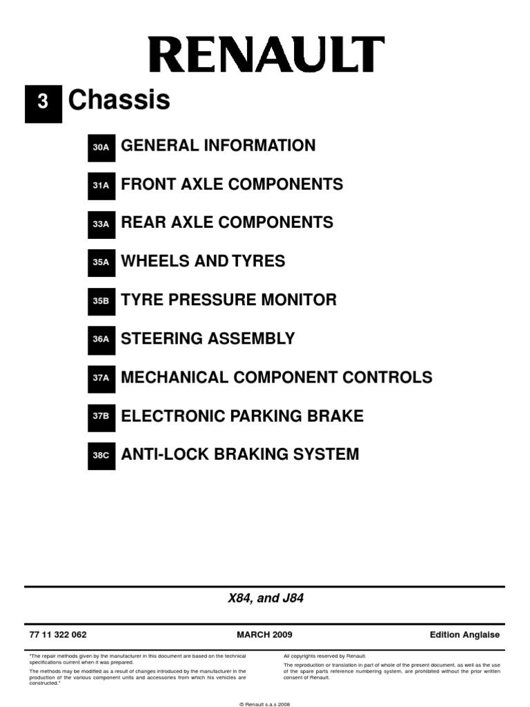 Scenic II PT4 Chassis | Brake | Axle