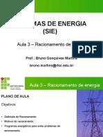Aula 3 - Racionamento de Energia