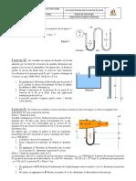 Travaux Dirigés - TD 1 -  Ecoulement des fluides (Bernoulli)