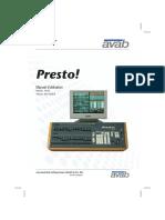 Presto User Manual Fr