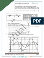 Série d'exercices - Physique Oscillation électrique forcée - Bac Math (2013-2014) Mr Afdal Ali