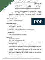 CQFQ 0xx - Não Conformidades - Rev.01