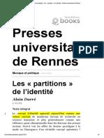 Musique et politique - Les - partitions - de l2019identite - Presses universitaires de Rennes