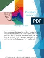 slide psicologia das cores