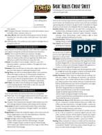 PFRPG Basic Rules Cheat Sheet