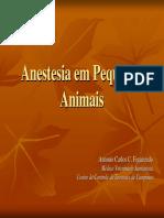 Anestesia em Pequenos Animais - Antonio Carlos Figueiredo