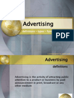 Advertising - Definitions, types, purpose