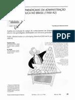 Os Paradigmas Da Administração Pública No Brasil