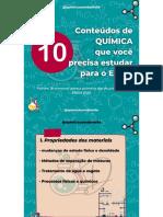 10 CONTEÚDOS DE QUÍMICA QUE VOCÊ ESTUDAR PARA O ENEM