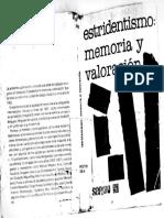 Estridentismo. Memoria y Valoracion, Becerra, Gabriela, (coord.)