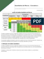 Análise Qualitativa e Quantitativa de Riscos - Conceitos e Diferenças