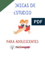 TECNICAS DE ESTUDIO-ADOLESCENTES