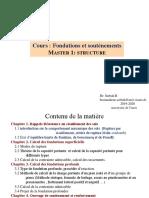cours fondations et soutenements chII