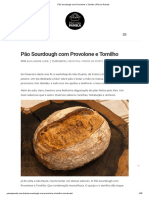 Pão Sourdough com Provolone e Tomilho _ Pão na Panela