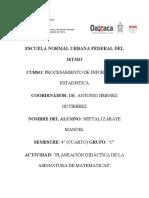 Planeación Didactica Sexto Grado Matematicas Antonio Jimenez