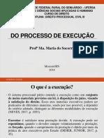Aula 1 - Do Processo de Execução - Teoria Geral da Execução