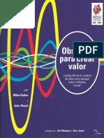 Observar Para Crear Valor Versión Color Mike Rother y John Shook