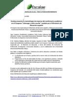 Nota de Prensa Congreso en Granada
