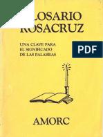 Glosario Rosacruz (1981) Quinta Edición
