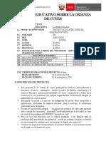 CRIANZA DE CUYES PROYECTO