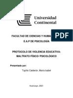 PROTOCOLO DE VIOLENCIA EDUCATIVA