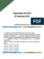 2ª Revisão do SUS - FGV 2021