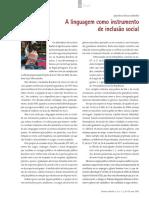 A linguagem como instrumento de inclusao social
