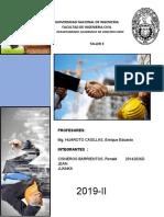 TALLER 3 GESTION DE LA CONSTRUCCIÓN