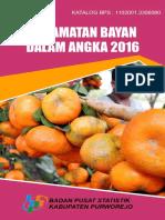 Kecamatan Bayan Dalam Angka 2016