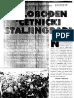 Patriotski List - Oslobodjen Cetnicki Staljingrad - Vozuca
