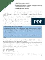 ETIMOLOGÍAS GRECOLATINAS (Clases)
