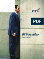 BT Versatility Owners Manual