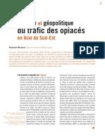 Histoire Et Geopolitique de La Drogue e