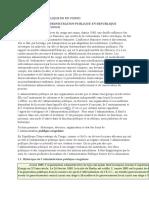 ADMINISTRATION PUBLIQUE EN RD CONGO