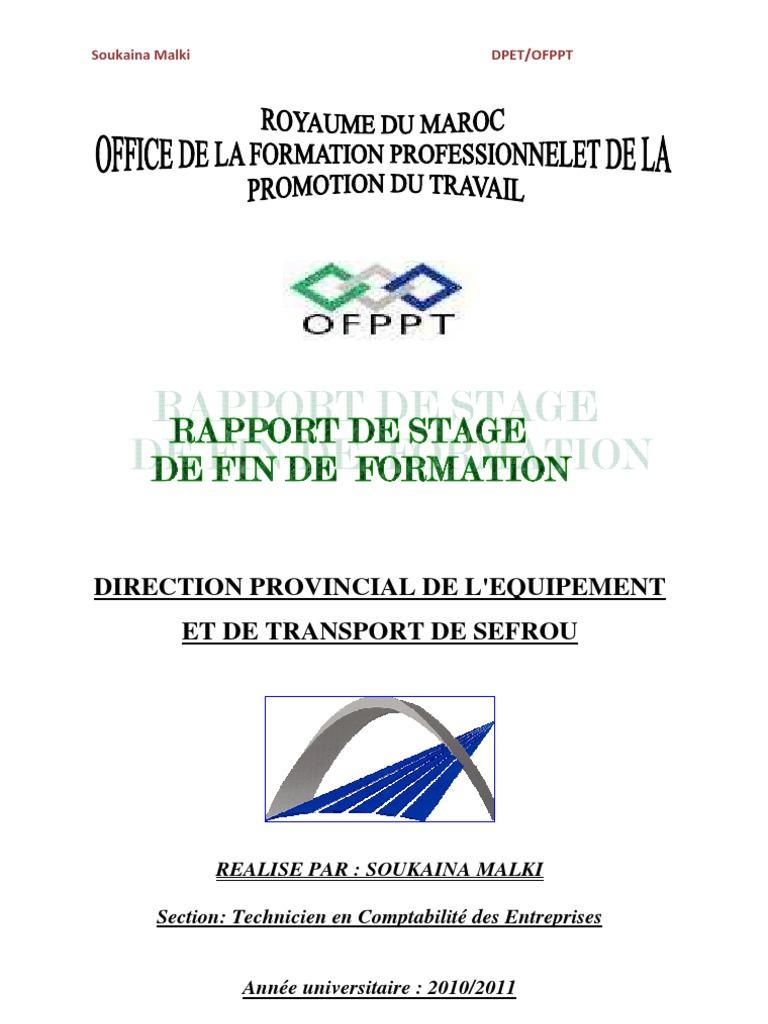 exemple de rapport de stage fiduciaire pdf document