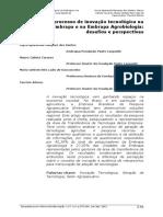 ##O processo de inovação tecnológica na Embrapa e na Embrapa Agrobiologia