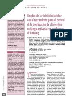 2009 - Empleo de la viabilidad celular como herramienta para el control de la dosificación de cloro sobre un fango activado con problemas de bulking