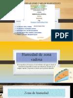 HUMEDAD DE ZONA VADOSA