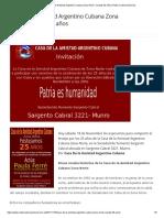 Casa de La Amistad Argentino Cubana Zona Norte -Cumple 25 Años _ Radio Cadena Nacional