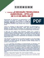release teaser 1ª Feira de Inovação Tecnológica Audiovisual