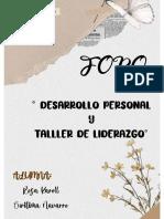 Foro Temático-Desarrollo Personal y Taller de Liderazgo