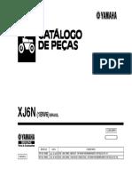 2012 (1bw6) catalogo de peças xj6